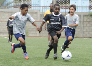 Soccer Game, footall, kids, school children, Port Au Prince, Haiti, 11-10-2012